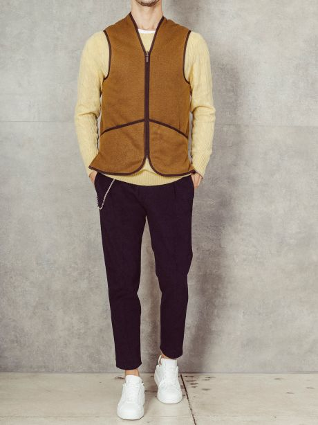 Gilet con fodera in pile