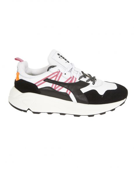 DIADORA Sneakers uomo RAVE LEATHER POP white black