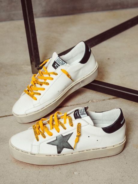 Sneakers Hi Star in pelle con army green star