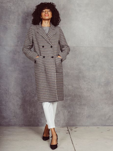 Cappotto LIAR check doppiopetto