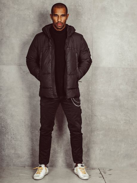 STONE ISLAND 40723 Giaccone GARMENT DYED CRINKLE REPS NY DOWN nero