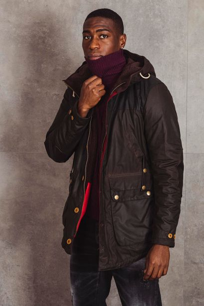 BARBOUR Parka GAME WAXED COTTON