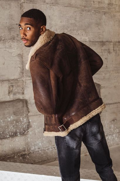 Golden Goose Giacca Arvel Collezione Journey in shearling