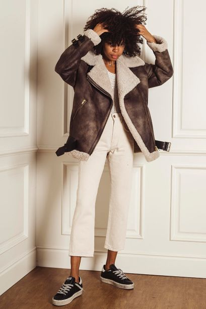 GOLDEN GOOSE Giacca Chelsey Collezione Journey in shearling
