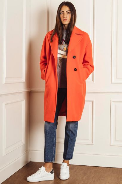 PINKO Cappotto cocoon in panno
