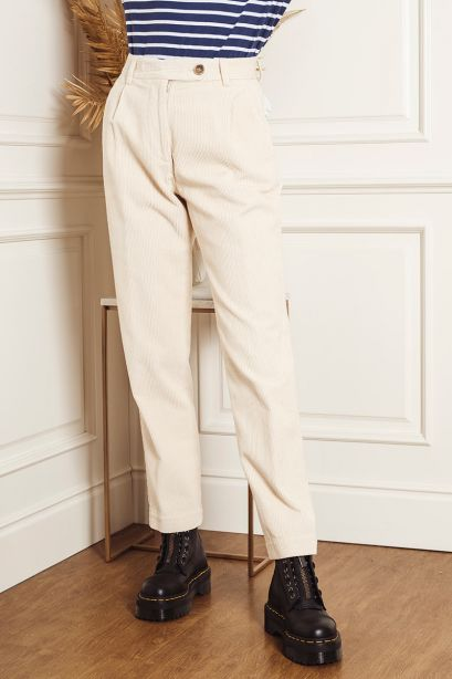 Semicouture Pantalone pence velluto a coste