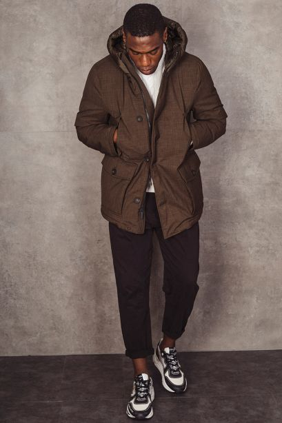 WOOLRICH City Parka in tessuto performante effetto lana