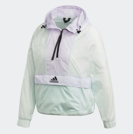 ADIDAS Giacca a vento cropped Wind.Rdy green/purple