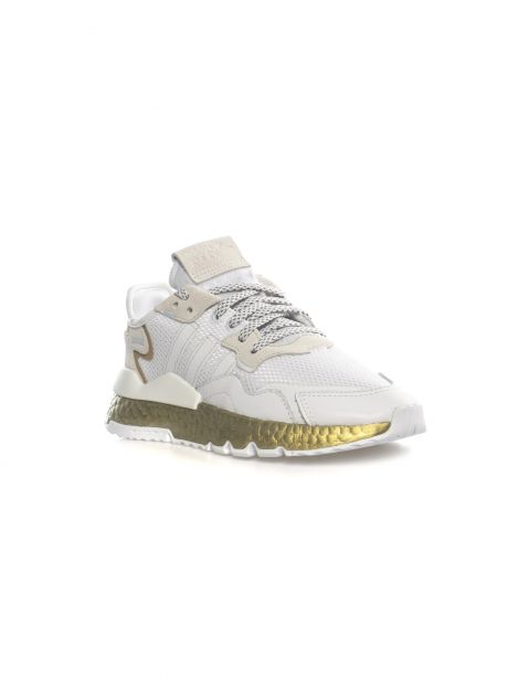 ADIDAS Sneakers donna NITE JOGGER white/gold