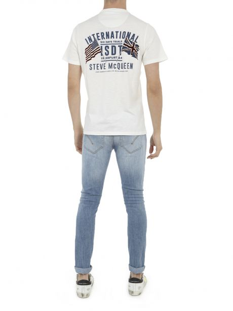 Barbour International SMQ Team Flags Tee Whisper White