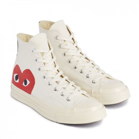 Play Comme des Garçons Converse Red Heart Chuck Taylor All Star '70 High White
