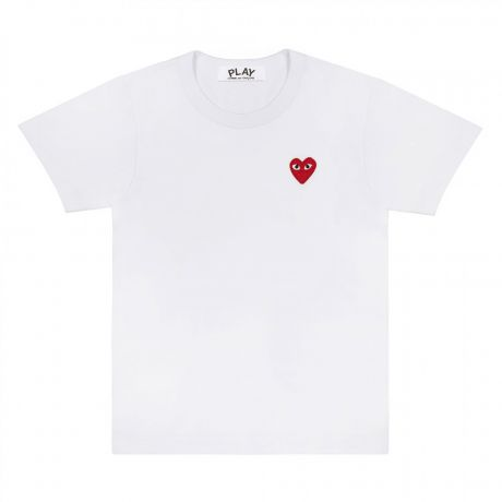 Red Play Comme des Garçons T-Shirt (White)