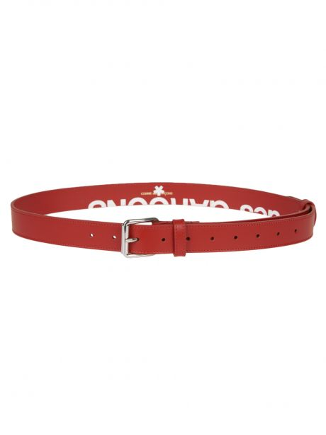 COMME DES GARCON PLAY Cintura Wallet Huge Logo Belt Red