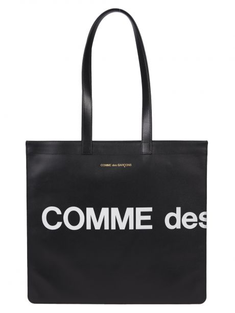 COMME DES GARCON PLAY Borsa Wallet Huge Logo Tote Bag black
