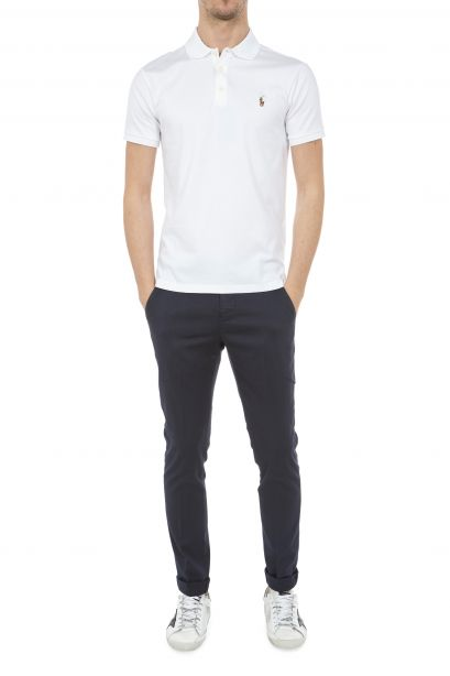 DONDUP Pantalone Gaubert in cotone stretch blu
