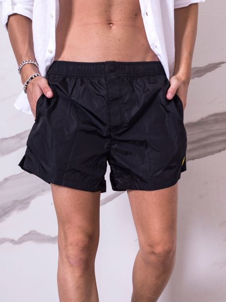 F**k costume short effetto shantung lucido
