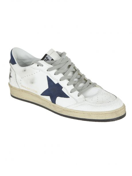 GOLDEN GOOSE Sneakers Uomo Ball Star bianca/blu