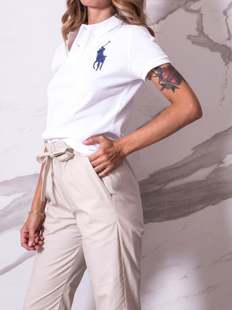 Polo Ralph Lauren Polo Big Pony Skinny-Fit bianco/blu navy