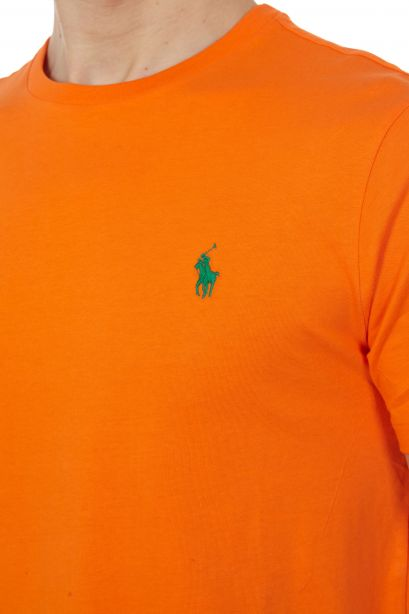 POLO RALPH LAUREN Maglietta a girocollo Custom Slim-Fit Bright Signal Orange