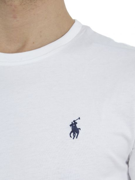 POLO RALPH LAUREN Maglietta in cotone Custom Slim-Fit bianca