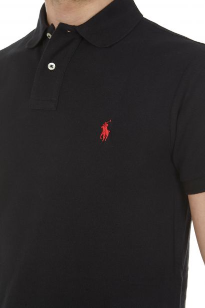 POLO RALPH LAUREN Polo in piqué Slim-Fit Polo Black/Red