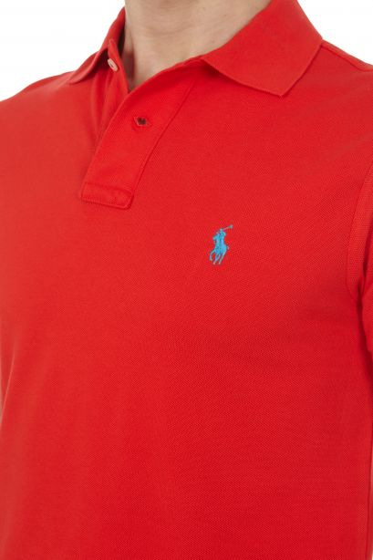 POLO RALPH LAUREN Polo in piqué Slim-Fit African Red/Blue