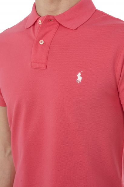 POLO RALPH LAUREN Polo in piqué Slim-Fit Hot Pink/White