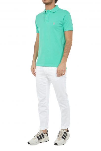 POLO RALPH LAUREN Polo in piqué Slim-Fit Sunset Green/Pink