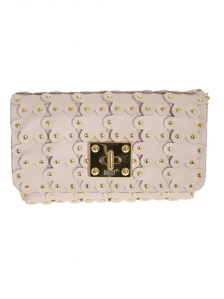 RED(V) Borsa Flower Puzzle clutch rosa