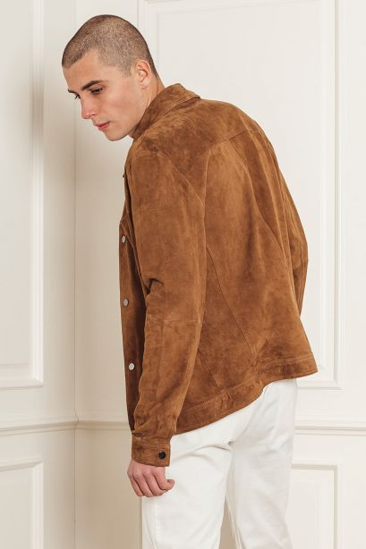 ALPHA INDUSTRIES Giacca camicia in suede