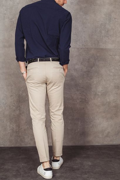 AT.P.CO. Pantalone chino beige chiaro