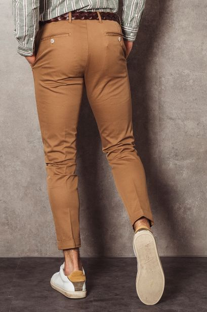 AT.P.CO. Pantalone chino marrone