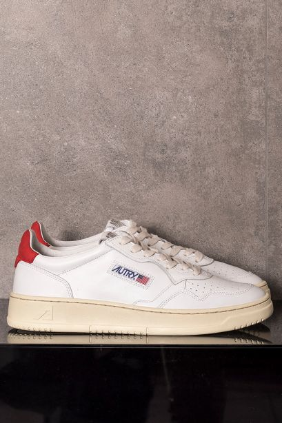 AUTRY Sneakers uomo low bianco rosso