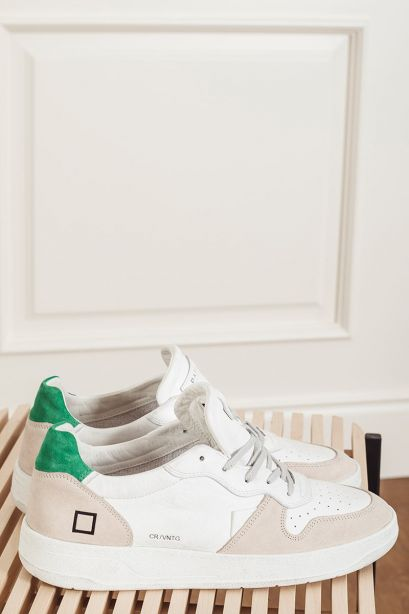 D.A.T.E. Sneakers uomo COURT VINTAGE CALF white green