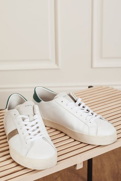 D.A.T.E. Sneakers uomo HILL LOW calf white-green