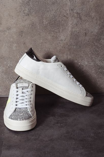 D.A.T.E. Sneakers donna HILL LOW VINTAGE CALF white black
