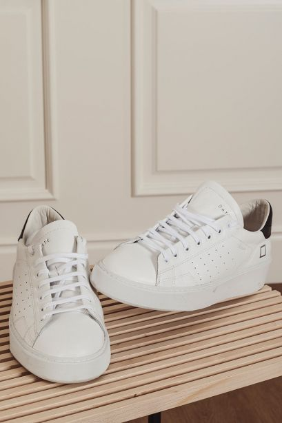 D.A.T.E. Sneakers uomo LEVANTE calf white-black