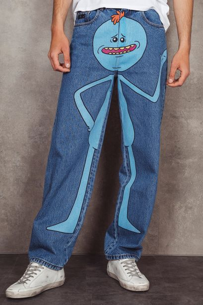 GCDS Jeans in denim Rick and Morty