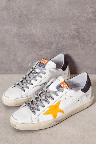 Golden Goose Sneakers uomo super-star stella arancio