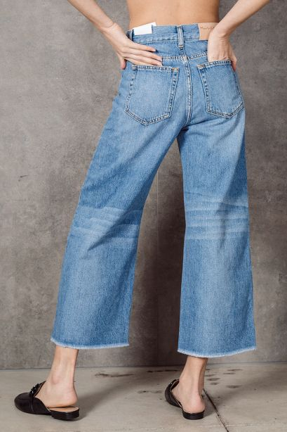 MANILA GRACE Pantalone wide in denim