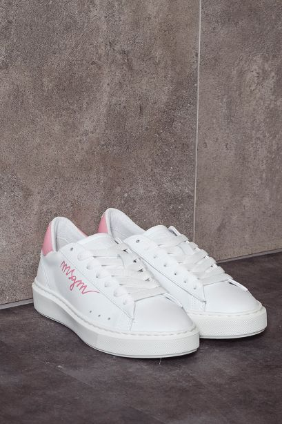 MSGM Sneakers donna logo rosa MSGM