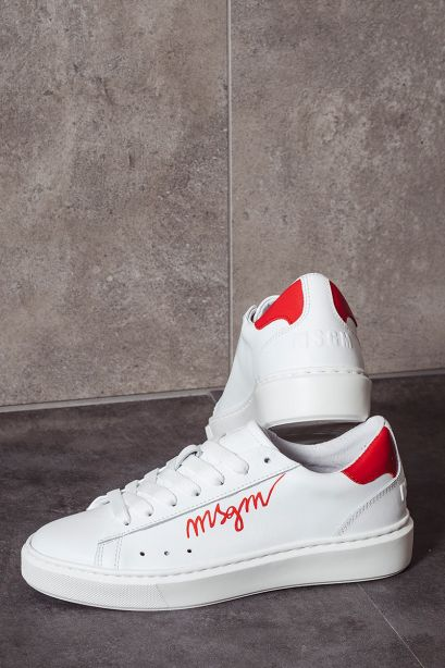 MSGM Sneakers donna logo rosso MSGM