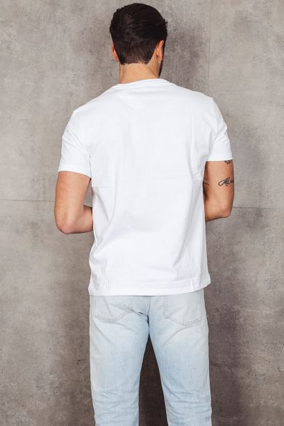 POLO RALPH LAUREN T-shirt in jersey Classic-Fit bianco