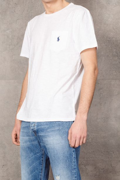 POLO RALPH LAUREN T-shirt con tasca Custom Slim-Fit white