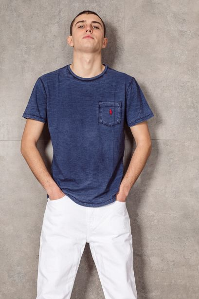 POLO RALPH LAUREN T-shirt con tasca Custom Slim-Fit navy
