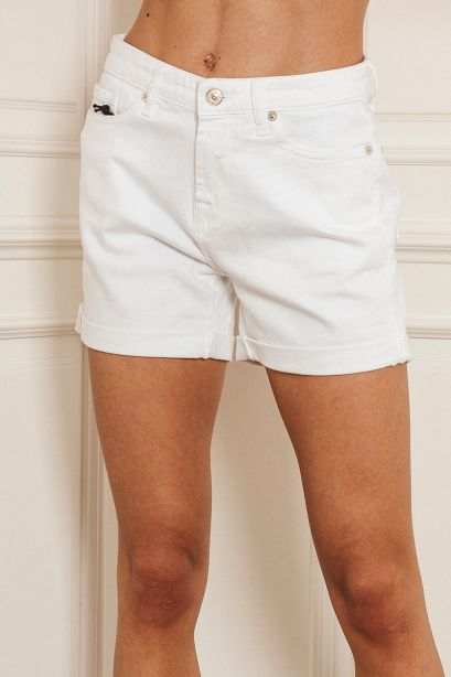SEVEN FOR ALL MANKIND Jeans bianco BOY SHORTS