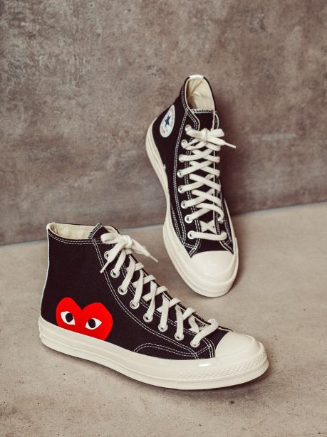 Play Comme des Garçons x Converse Red Heart Chuck Taylor All Star '70 High (Black)