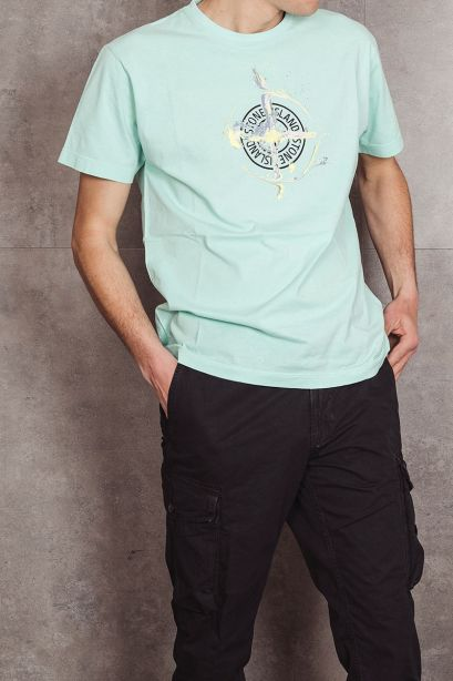 STONE ISLAND 2NS83 T-shirt MARBLE ONE verde