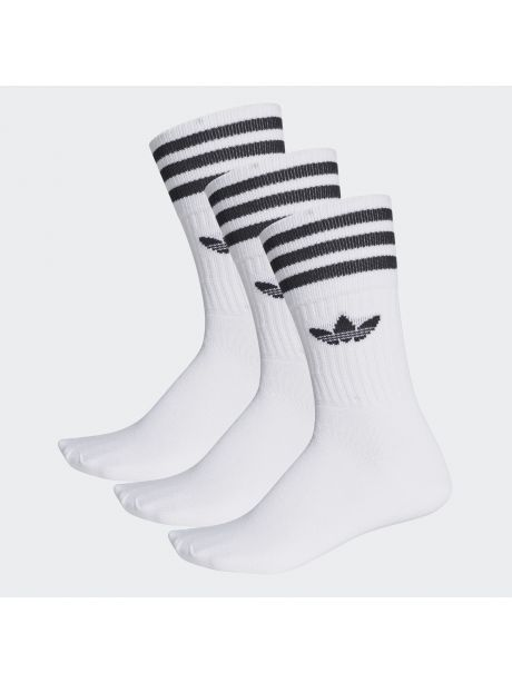 Adidas Solid Crew 3er-Pack white