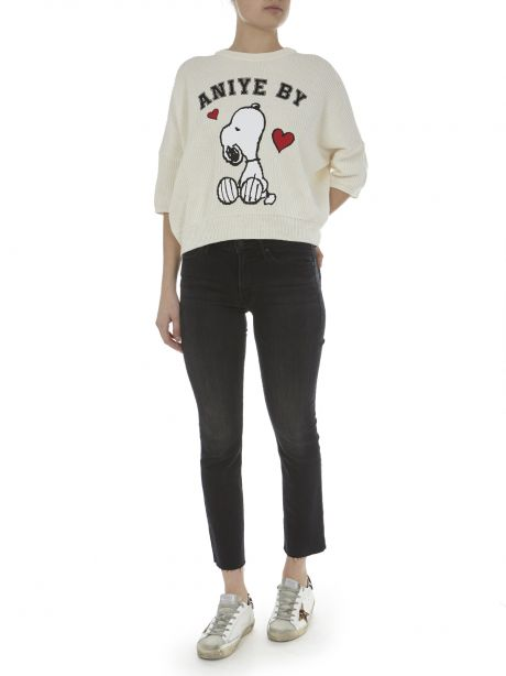 ANIYEBY Pull Snoopy bianco